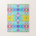 """Psychedelic Puzzle Print<br><div class=""""desc"""">If you love puzzles, this one is for you. This super psychedelic puzzle print features a repetitive pattern where you&#39;ll have several pieces with the exact same pattern on them. It will be up to you to find the right piece for the right place. Test your skills by purchasing this...</div>"""