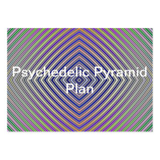 Psychedelic Pyramid Plan Business Card