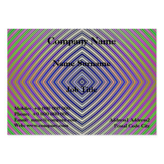 Psychedelic Pyramid Plan Chubby Business Card