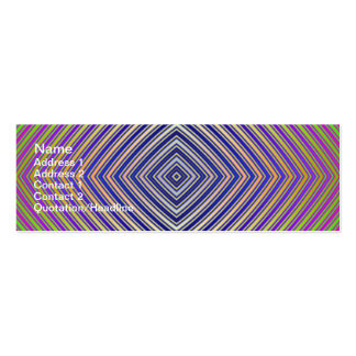 Psychedelic Pyramid Plan Skinny Business Card