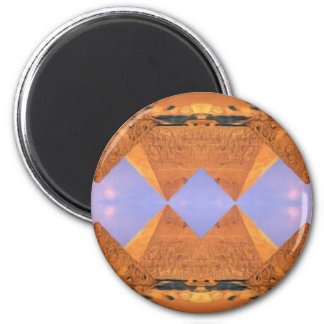 Psychedelic Pyramids Magnet