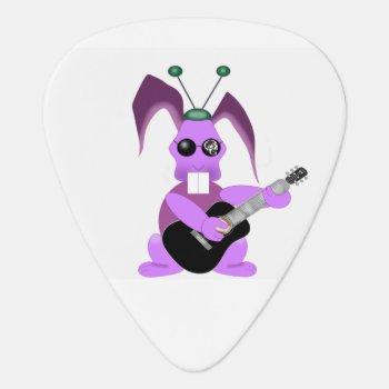 Psychedelic Rabbit Guitar Pick by lili_zupanc at Zazzle