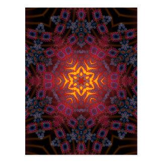 Psychedelic Radial Artwork: Postcard