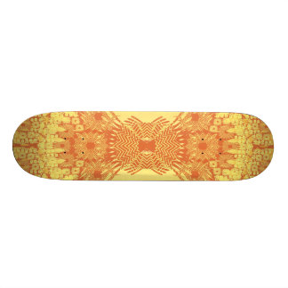 Psychedelic Radial Artwork: Skateboard