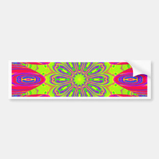 Psychedelic Radial Pattern: Bumper Sticker