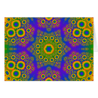 Psychedelic Radial Pattern: Card