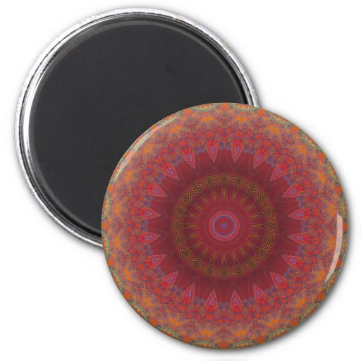 Psychedelic Radial Pattern: Fridge Magnet
