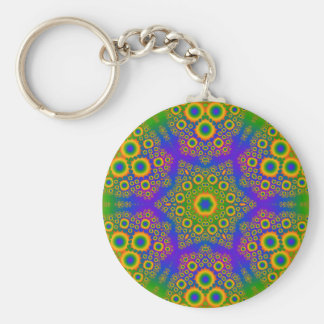 Psychedelic Radial Pattern: Key Chain