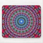 Psychedelic Radial Pattern: Mouse Pad