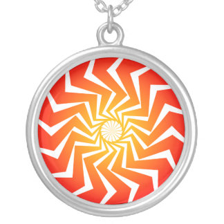 Psychedelic Radial Pattern: Necklace