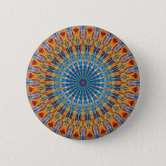 Psychedelic Radial Pattern: Pinback Button