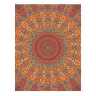 Psychedelic Radial Pattern: Postcard