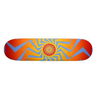 Psychedelic Radial Pattern: Vector Art: Skateboard