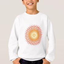 Psychedelic Radial Pattern: Vector Art: Sweatshirt