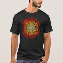 Psychedelic Radial Pattern: Vector Art: T-Shirt