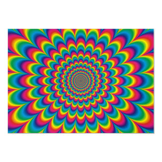 Psychedelic rainbow abstract design card