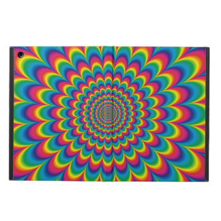 Psychedelic rainbow abstract design case for iPad air