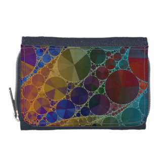 Psychedelic Rainbow Bling Abstract Wallets
