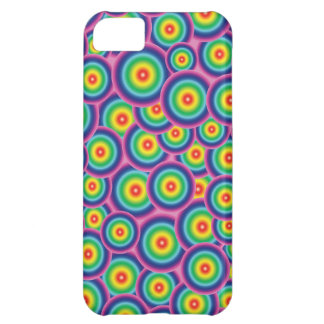 Psychedelic rainbow bubbles case for iPhone 5C