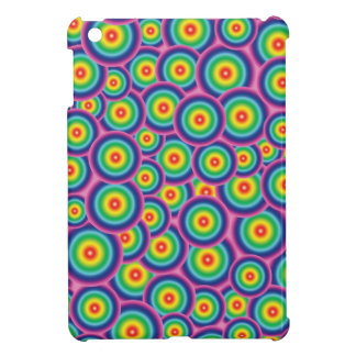 Psychedelic rainbow bubbles case for the iPad mini