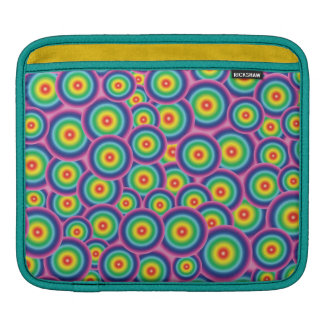 Psychedelic rainbow bubbles sleeve for iPads
