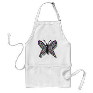 Psychedelic Rainbow Butterfly Adult Apron