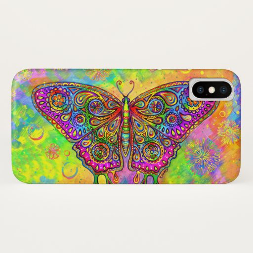 Psychedelic Rainbow Butterfly CaseMate Case