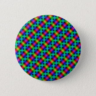 Psychedelic Rainbow Button