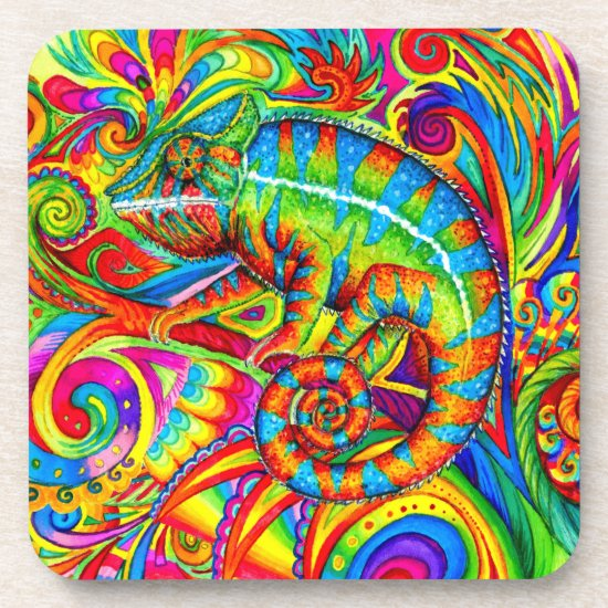 Psychedelic Rainbow Chameleon Collection