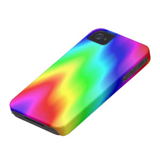 Psychedelic Rainbow Colors Crayon Meltdown iPhone 4 Cases