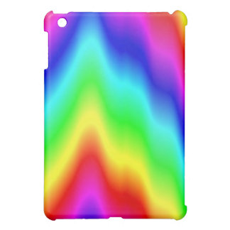 Psychedelic Rainbow Colors Crayon Meltdown iPad Mini Cover