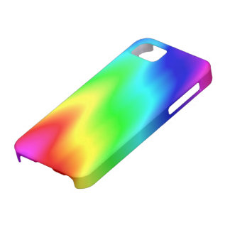 Psychedelic Rainbow Colors Crayon Meltdown iPhone SE/5/5s Case