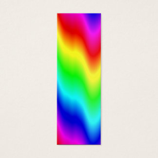 Psychedelic Rainbow Colors Crayon Meltdown Mini Business Card