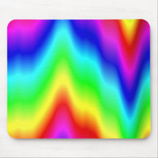 Psychedelic Rainbow Colors Crayon Meltdown Mouse Pad