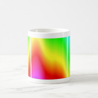 Psychedelic Rainbow Colors Crayon Meltdown Classic White Coffee Mug