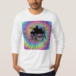 Psychedelic Rainbow Dance Band Drummer T-Shirt