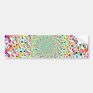 Psychedelic Rainbow Eyes Mandala Bumper Stickers