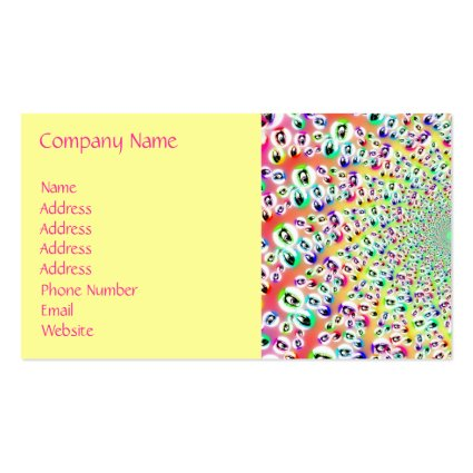 Psychedelic Rainbow Eyes Mandala Business Card Template