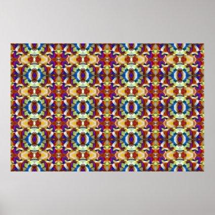 Psychedelic Rainbow Eyes Mandala Print