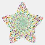 Psychedelic Rainbow Eyes Mandala Star Sticker