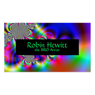 Psychedelic Rainbow Flowers Business Cards