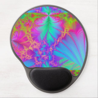 Psychedelic Rainbow Fractal Gel Mousepad
