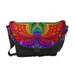 Psychedelic Rainbow Fractal Messenger Bag