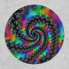 Psychedelic Rainbow Fractal Patch