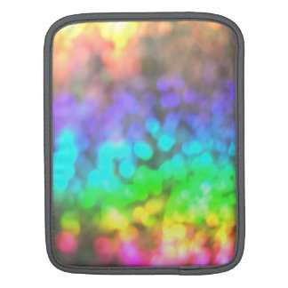 Psychedelic Rainbow Glitter Eye Candy for iPad iPad Sleeve
