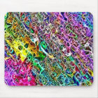 Psychedelic Rainbow Guts Fractal Art Mouse Pad