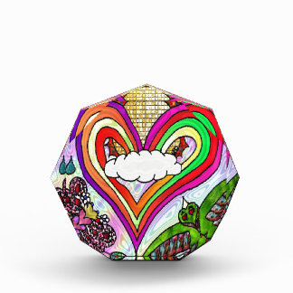 Psychedelic Rainbow Heart Art Print Award