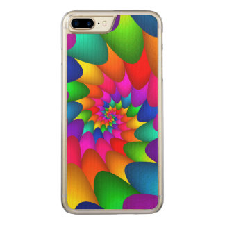 Psychedelic Rainbow iPhone 6 Plus Slim Wood Carved iPhone 8 Plus/7 Plus Case