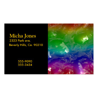 Psychedelic Rainbow Jellied Ooze Double-Sided Standard Business Cards (Pack Of 100)
