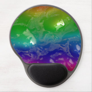 Psychedelic Rainbow Jellied Ooze Gel Mouse Pad
